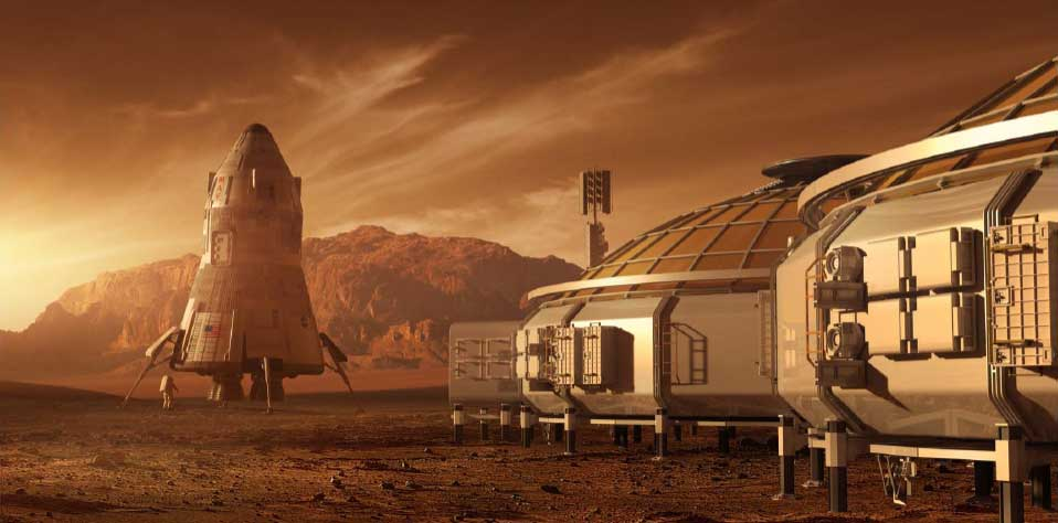Concept art for The Martian 04 - the base