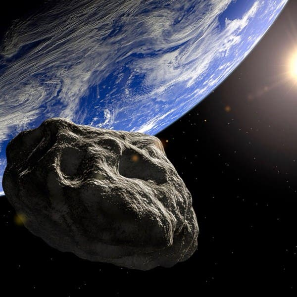 Artist-s-concept-of-an-asteroid-near-Earth