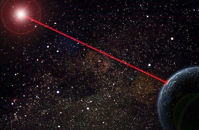 Space-Junk-Out-Laser-Shots-EOS-Space-Systems