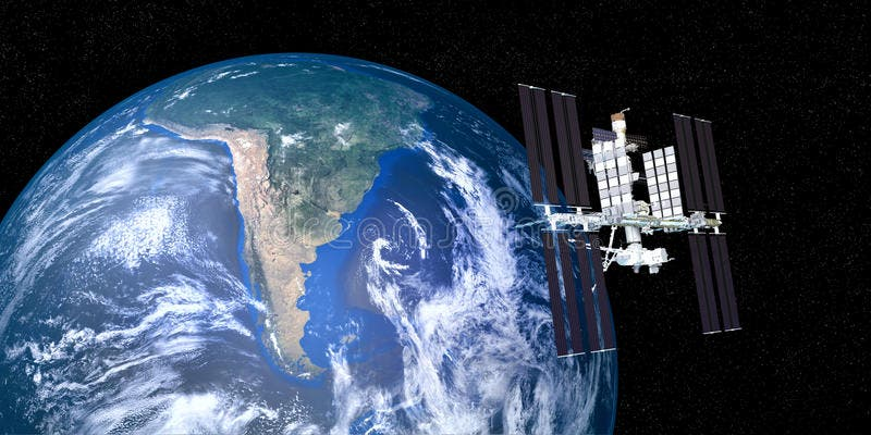 Extremely-detailed-realistic-high-resolution-d-image-iss-international-space-station-orbiting-earth-shot-outer-space-91162289