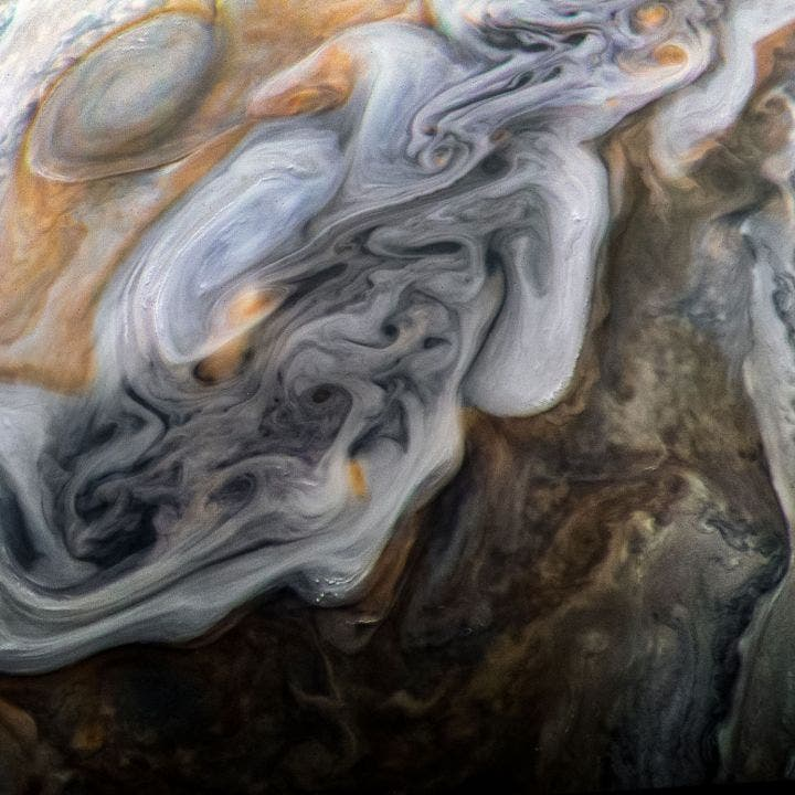 Jupiter Storm Clouds