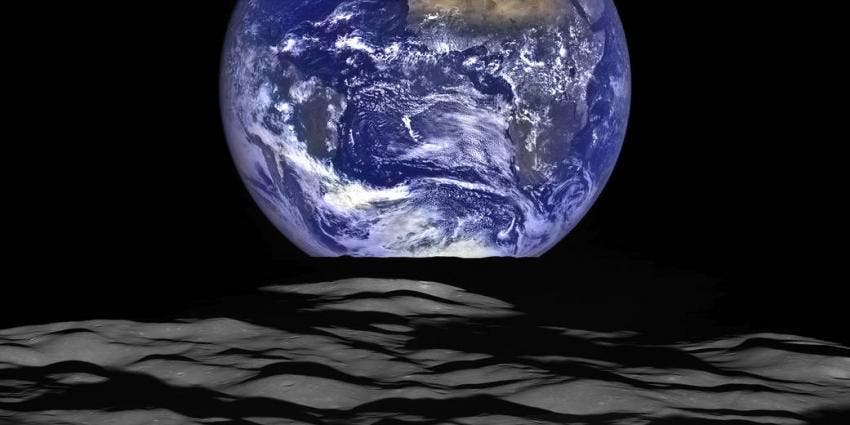 Earth from the Moon NASA