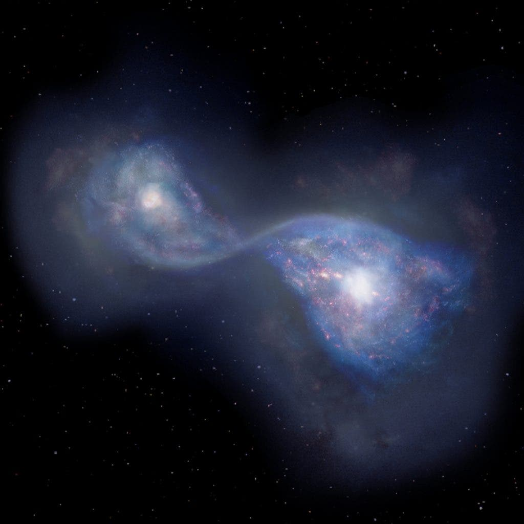 B14-65666 Earliest Merging Galaxies