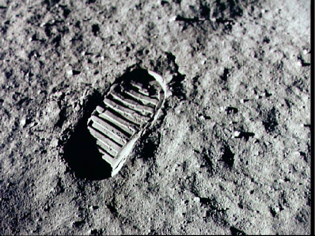 Neil Armstrong Lunar Footprint
