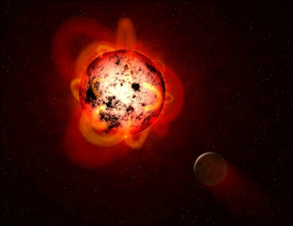 Red Dwarf Planets