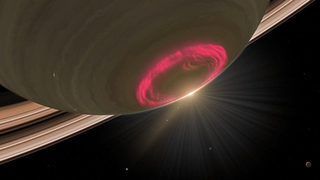 Saturn's South Pole Aurora