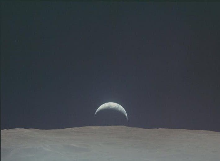 Earth from Moon Apollo 12