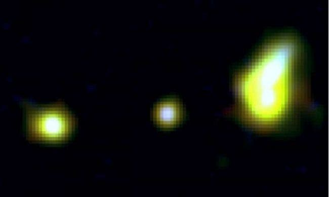 """Massive """"Ring of Fire"""" Galaxy --Observed at Beginning of the Cosmos"""